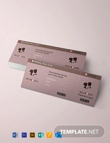 Free Wedding Invitation Movie Ticket Template