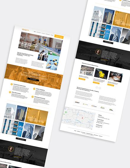 Modern Construction Company Wordpress Theme Format