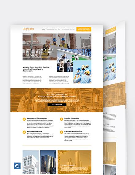 Modern Construction Company WordPress Theme/Template