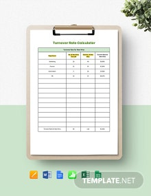 Turnover Rate Calculator Template