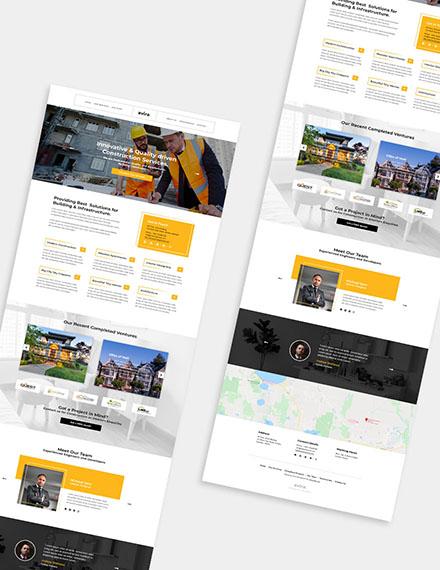 Construction Company WordPress Theme  Format