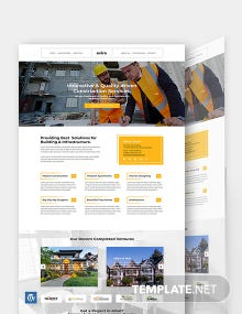 Construction Company WordPress Theme Template