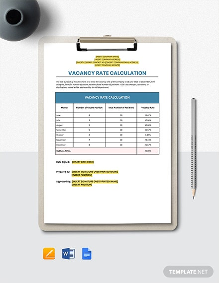 Vacancy Rate Calculation Template