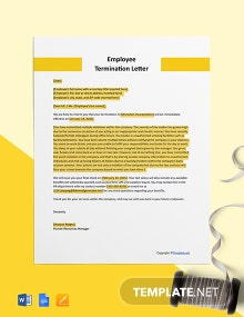 Free Sample Employee Termination Letter Template