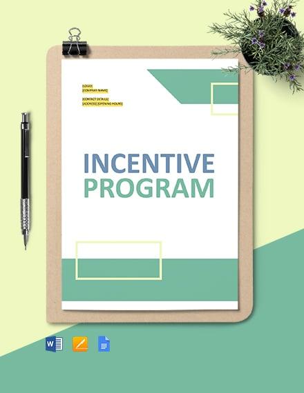 Incentive Program Template