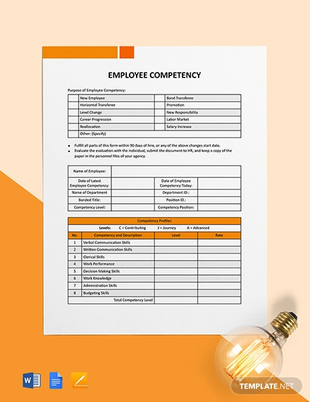 Employee Competency Template