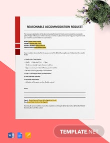 Reasonable Accommodation Request Template