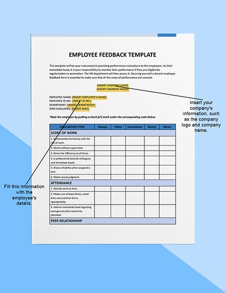 Employee Feedback Sample