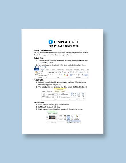 Sample Training Plan Instructions