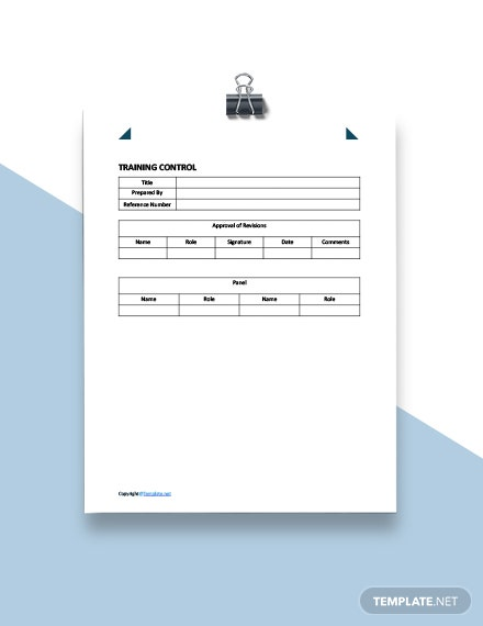 Sample Training Plan Template