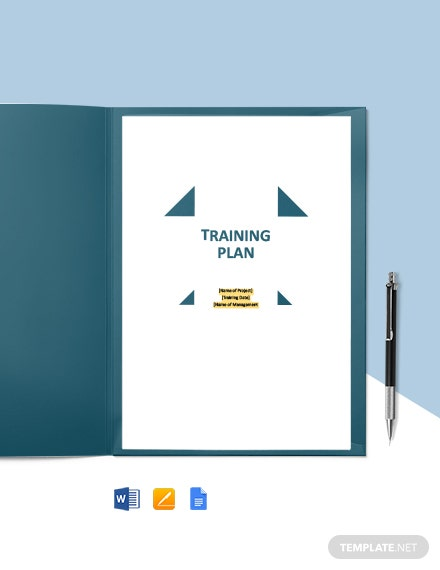 Free Sample Training Plan Template