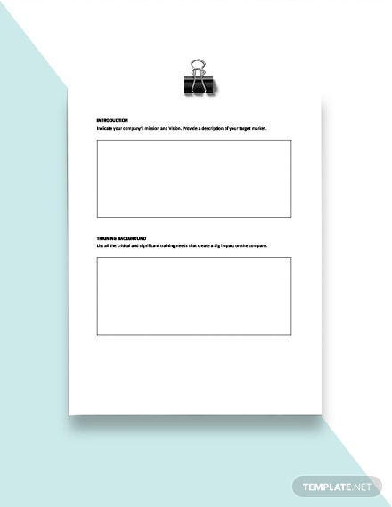 Annual Training Plan Template download
