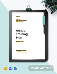 Annual Training Plan Template