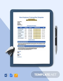 New Employee Training Plan Template