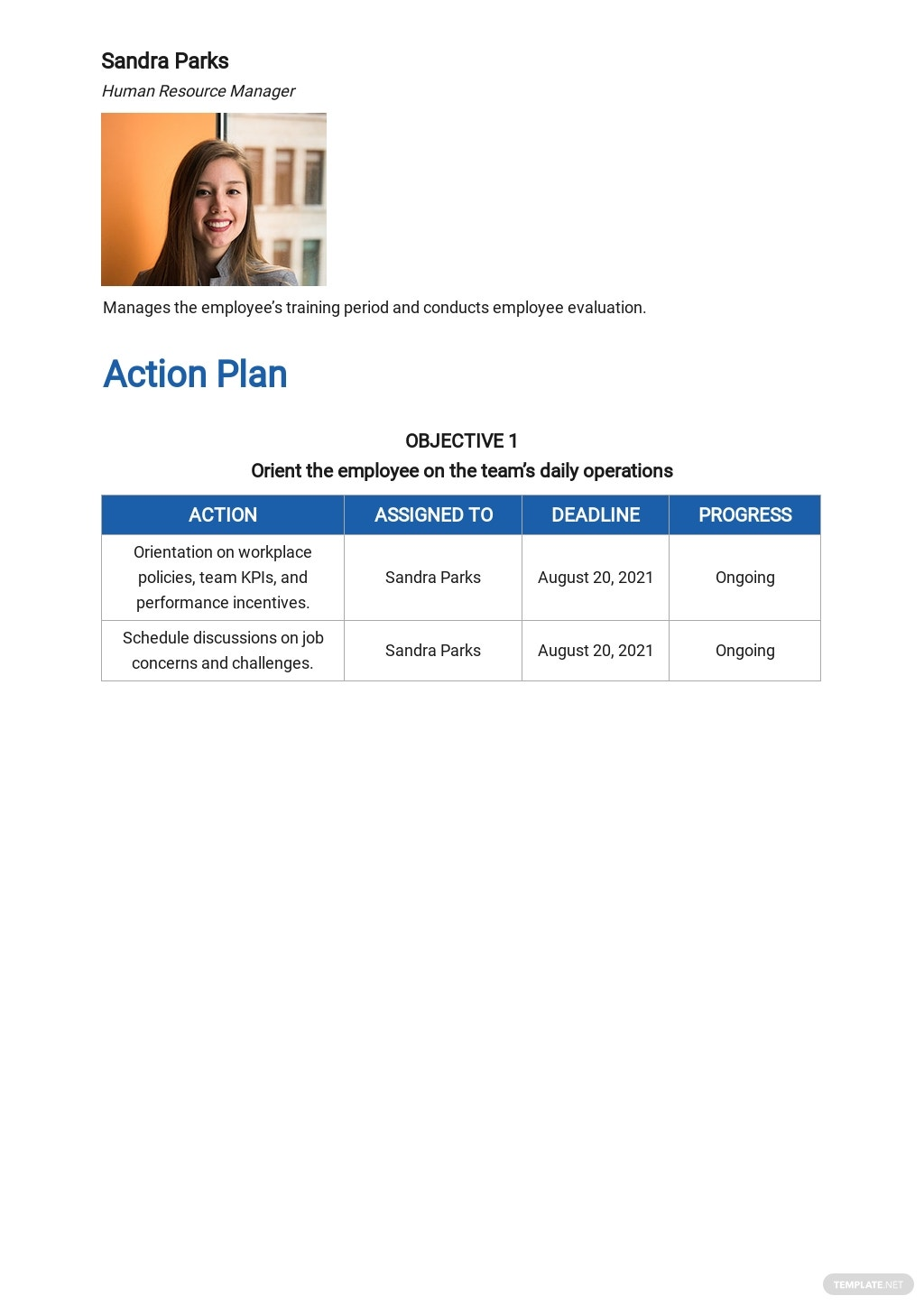 New Employee Training Plan Template [Free PDF] - Google Docs, Word, Apple Pages