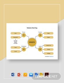 Free Simple Website Mind Map Template