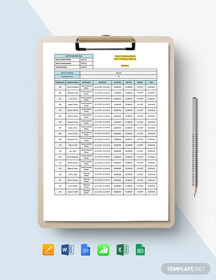 Payroll Tracker Template