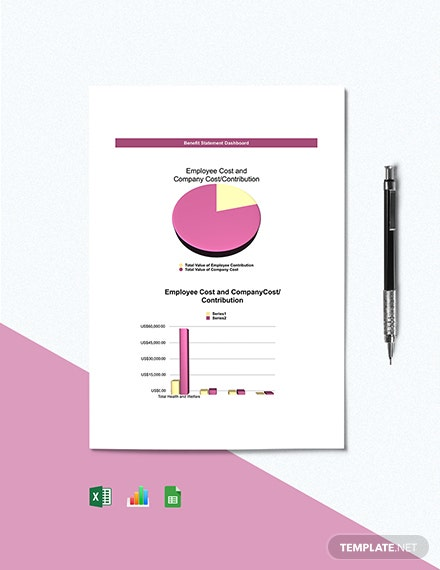 Free Benefit Statement Dashboard Template