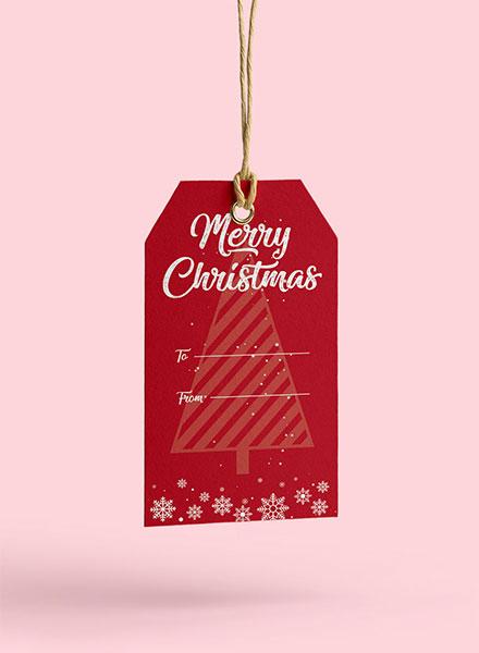 Free Christmas Tag Template