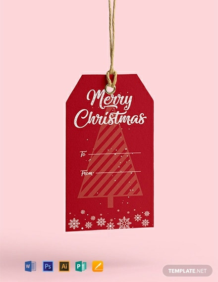 Free Christmas Tag Template