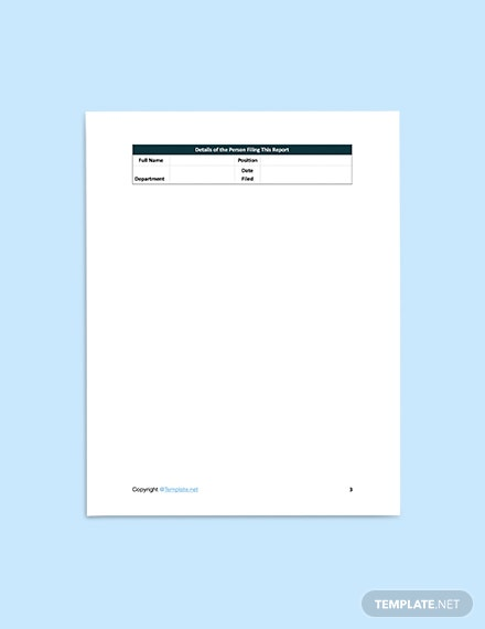 printable Free Sample Construction Incident Report Template