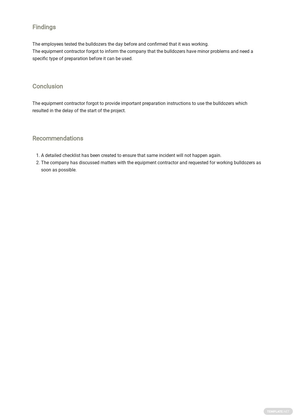 Free Blank Construction Incident Report Template  2.jpe