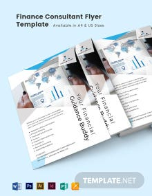 Finance Consultant Flyer Template