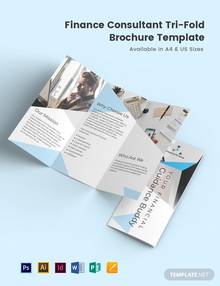 Finance Consultant Tri-Fold Brochure Template