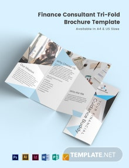 Finance Consultant Tri-Fold Brochure Template