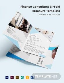 Finance Consultant Bi-Fold Brochure Template