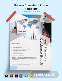 Finance Consultant Poster Template