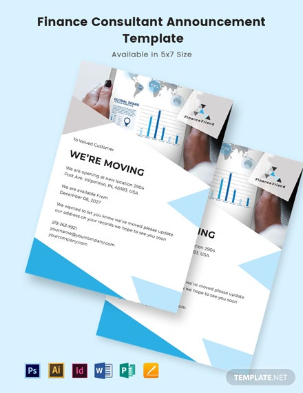 Finance Consultant Announcement Template