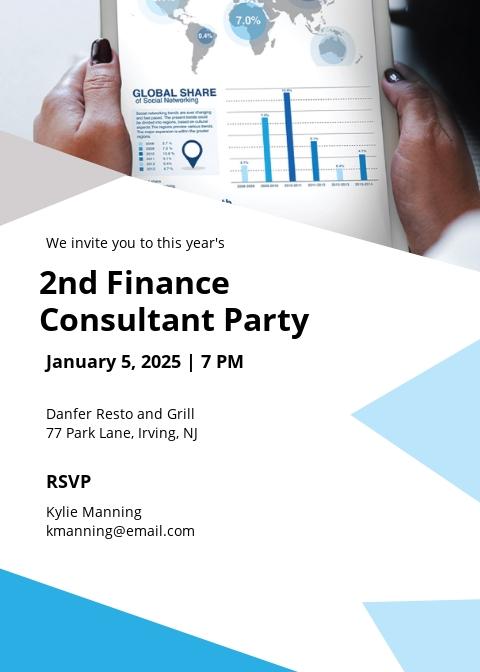 Finance Consultant Invitation Template