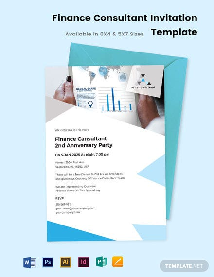 Finance Consultant Invitation Template