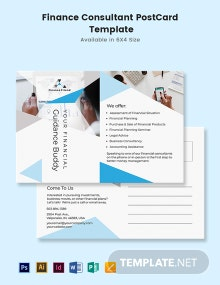 Finance Consultant Postcard Template