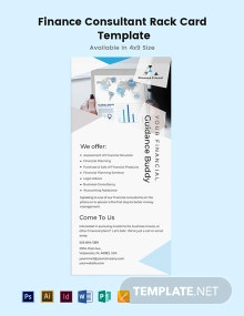 Finance Consultant Rack Card Template