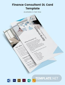 Finance Consultant DL Card Template