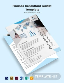 Finance Consultant Leaflet Template