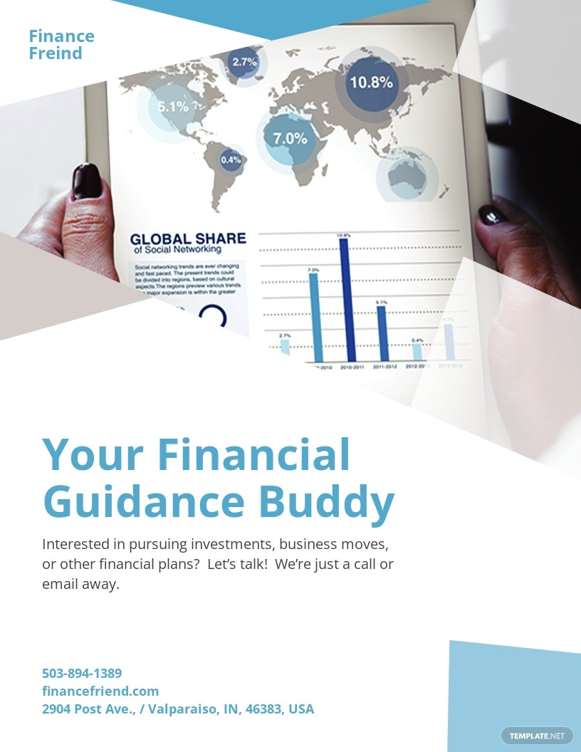 Finance Consultant Pamphlet Template