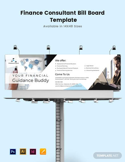 Finance Consultant Billboard Template
