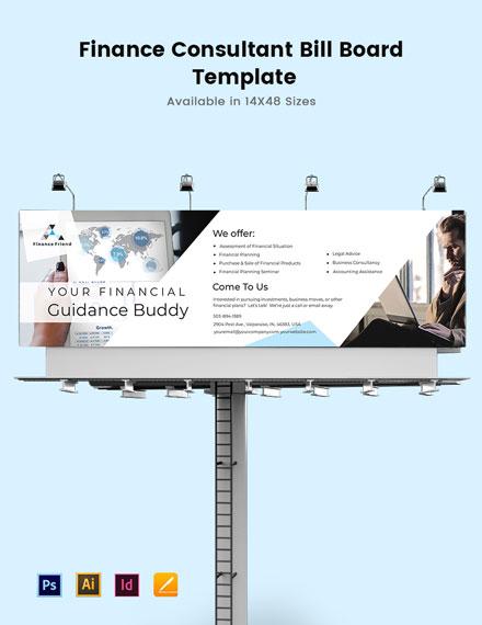 Finance Consultant Billboard Template