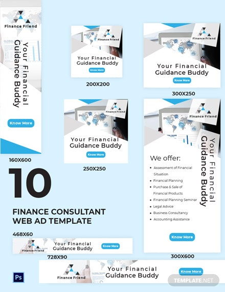 Finance Consultant Web Ads Template