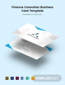 Finance Consultant Business Card Template