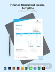 Finance Consultant Invoice Template