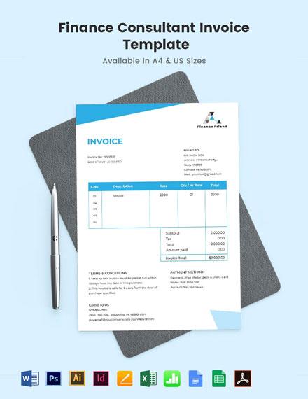Finance Consultant Invoice Template