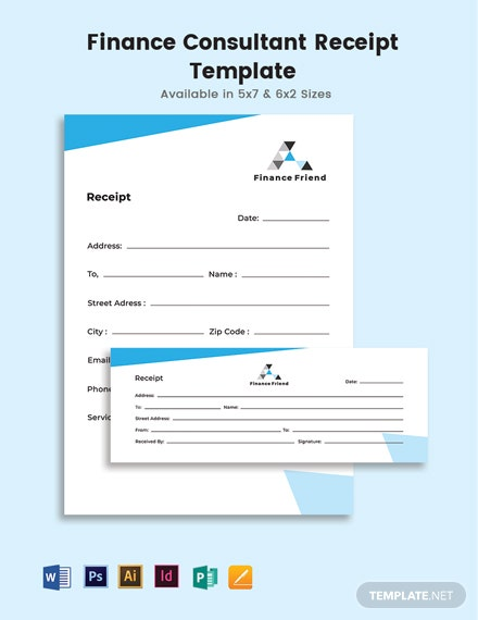 Finance Consultant Receipt Template
