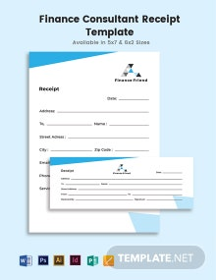 Finance Consultant Receipt Template