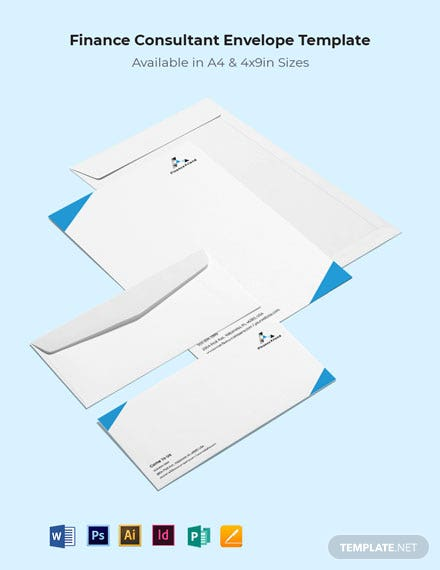 Finance Consultant Envelope Template