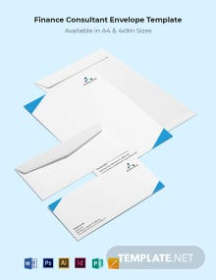 Finance Consultant Envelope Template