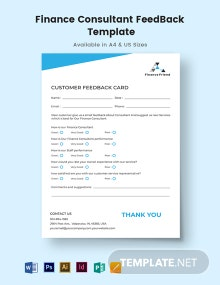 Finance Consultant Feedback Form Template